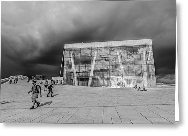 Oslo Greeting Cards - Oslo National Opera Greeting Card by Jose Goncalves