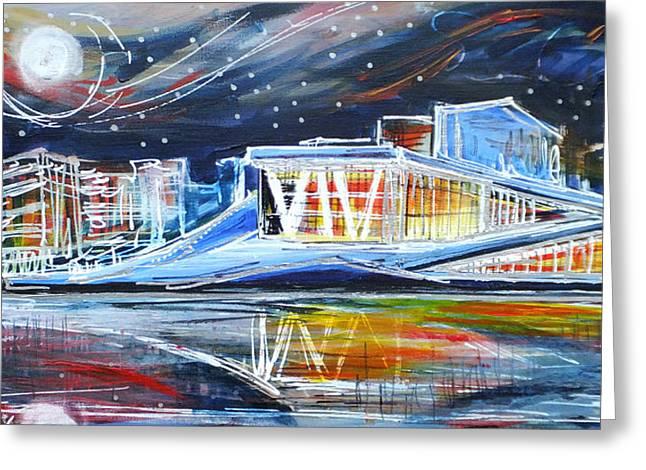 Oslo Opera House Greeting Card by Laura Hol Art