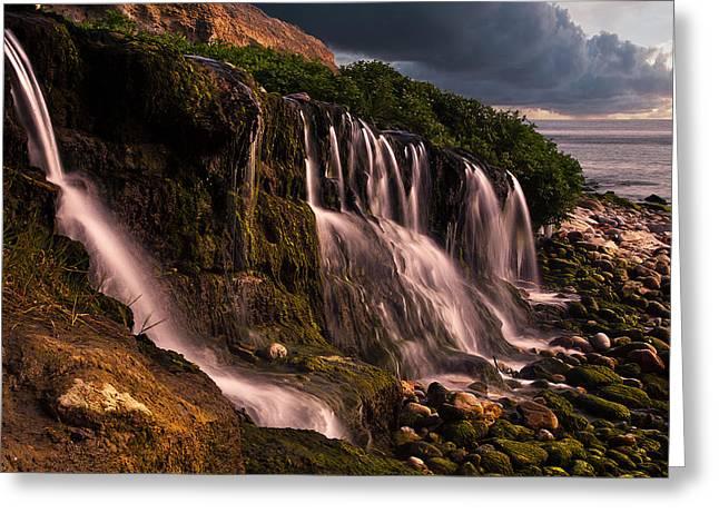 Osmington Falls Greeting Card by Kris Dutson