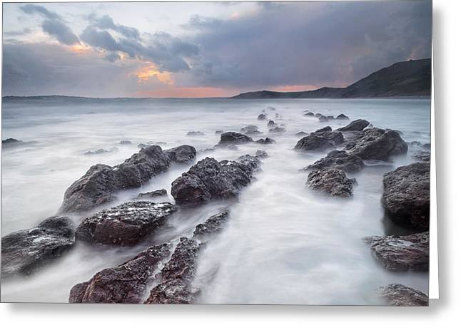 Ledge Photographs Greeting Cards - Osmington Mills Ledges Greeting Card by Chris Frost