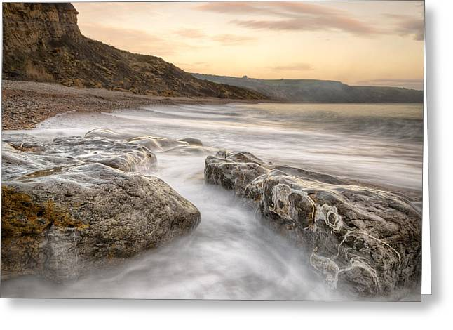 Wedding Photo Greeting Cards - Osmington Mills Waterway Greeting Card by Chris Frost