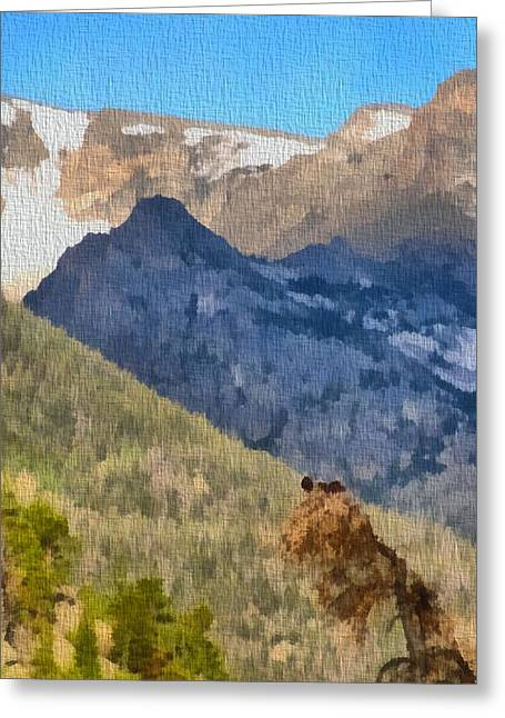 National Mixed Media Greeting Cards - Osprey Nest In Rocky Mountain National Park Greeting Card by Dan Sproul