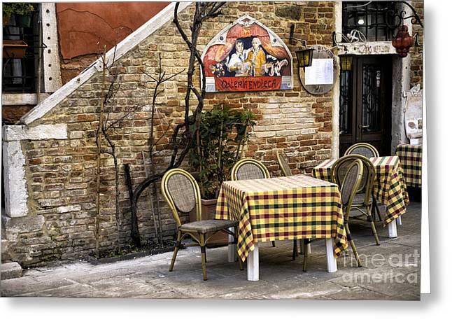 Italian Restaurant Greeting Cards - Osteria Enoteca Greeting Card by John Rizzuto