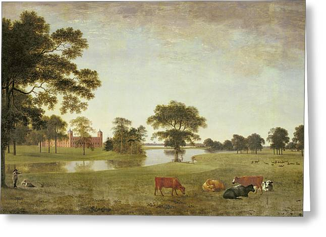 Lake House Paintings Greeting Cards - Osterley Park Greeting Card by Anthony Devis