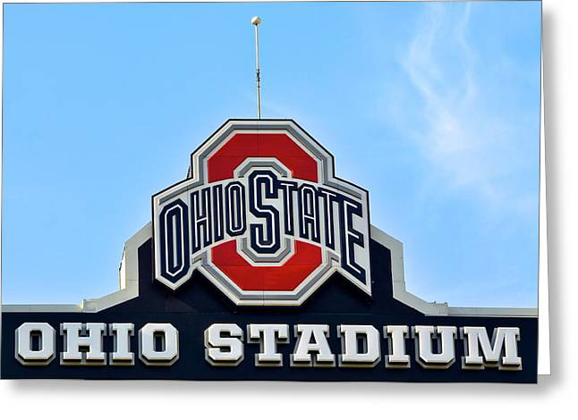 Osu Greeting Cards - Osu Stadium Greeting Card by Frozen in Time Fine Art Photography