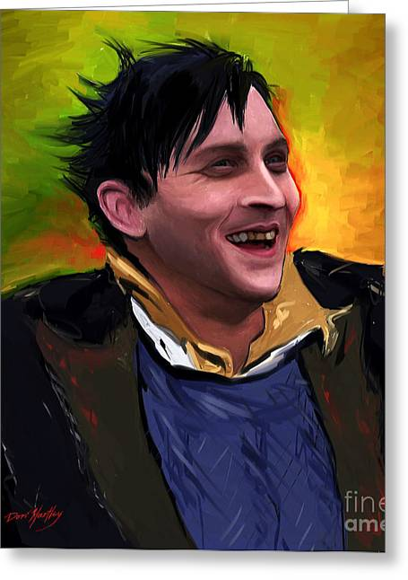The Penguin Greeting Cards - Oswald Cobblepot Greeting Card by Dori Hartley