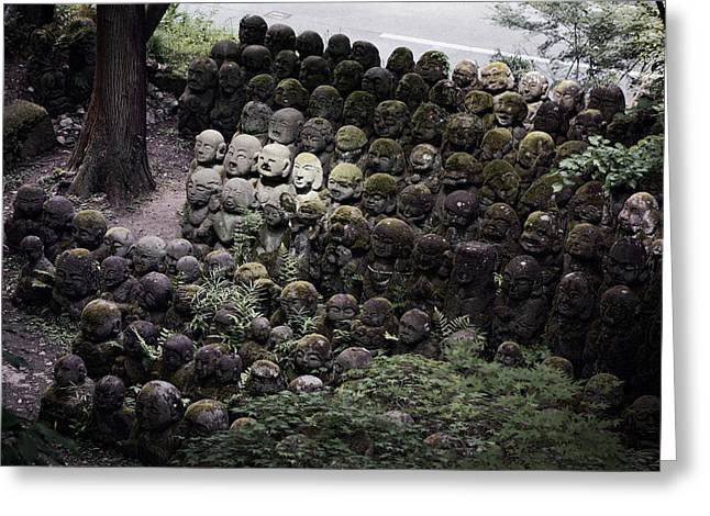 Kyoto Greeting Cards - Otagi Nenbutsu-ji Temple Kyoto Greeting Card by Daniel Hagerman