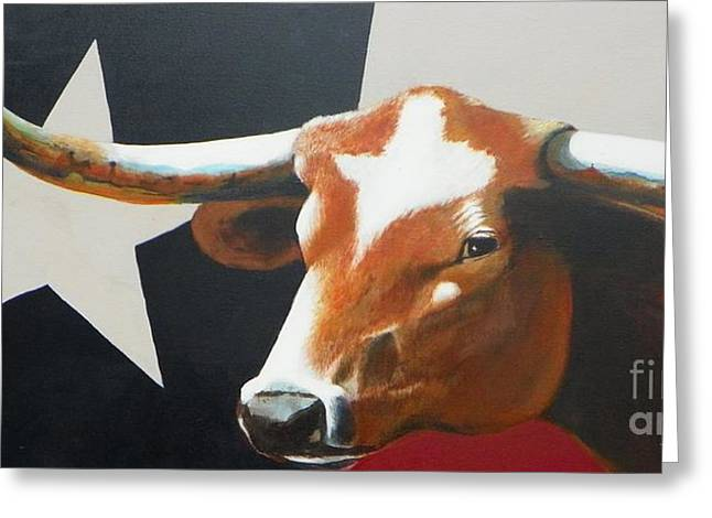 Dallas Paintings Greeting Cards - OTexas Greeting Card by David Ackerson