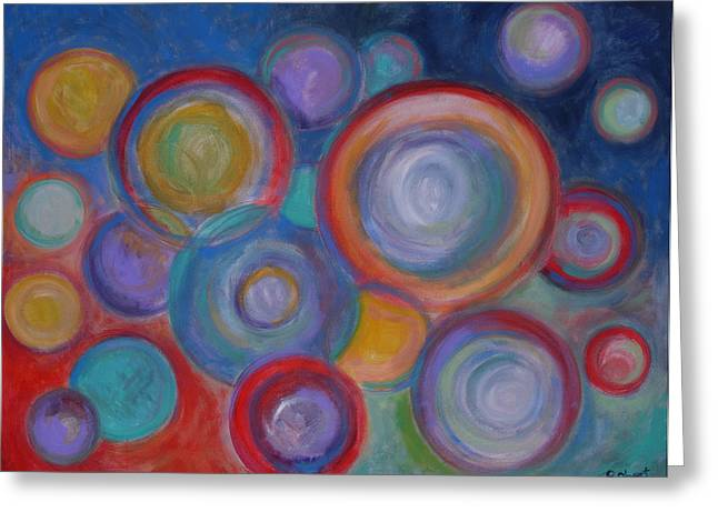 Circle Pastels Greeting Cards - Other Worlds - 48x60 Original Art / Prints Greeting Card by Robert R Abstract Paintings