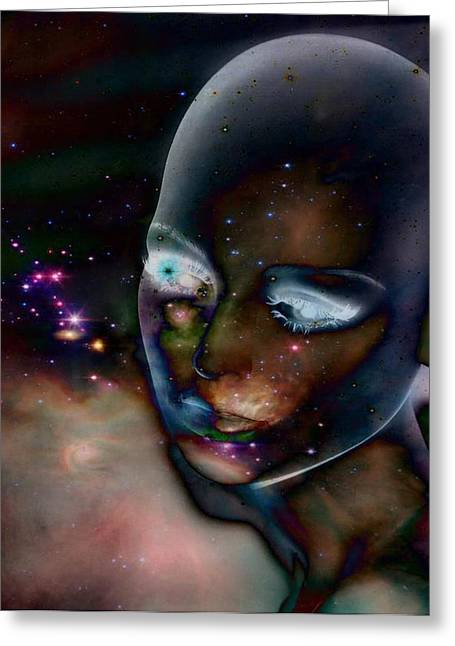 Celestial Digital Greeting Cards - Otherworldly Vision Greeting Card by Gothicolors Donna Snyder