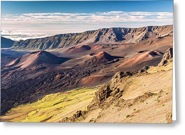 Haleakala Maui Greeting Cards - Otherworldly Volcano Landscape Greeting Card by Pierre Leclerc Photography