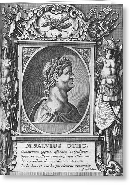 Pages Of Life Photographs Greeting Cards - Otho, Roman emperor Greeting Card by Science Photo Library