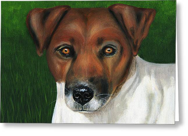 Dog Art Greeting Cards - Otis Jack Russell Terrier Greeting Card by Michelle Wrighton