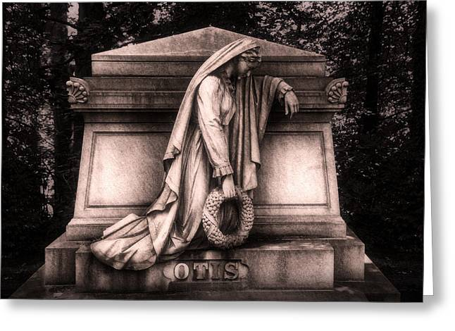 Weeping Photographs Greeting Cards - Otis Monument Greeting Card by Tom Mc Nemar