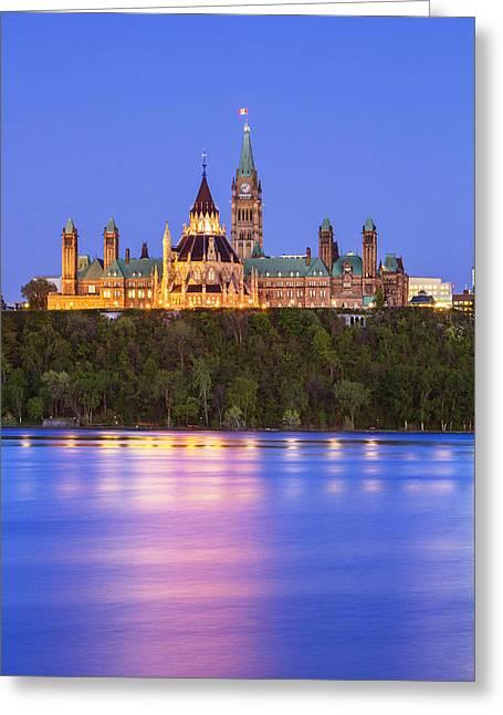 Ottawa Greeting Cards - Ottawa Blue Hour Greeting Card by Mircea Costina Photography