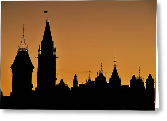 Liberal Greeting Cards - Ottawa Dusk Greeting Card by Tony Beck
