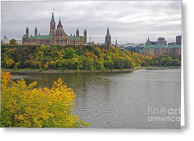 Ottawa Skyline Greeting Cards - Ottawa Scenic View Greeting Card by Charline Xia