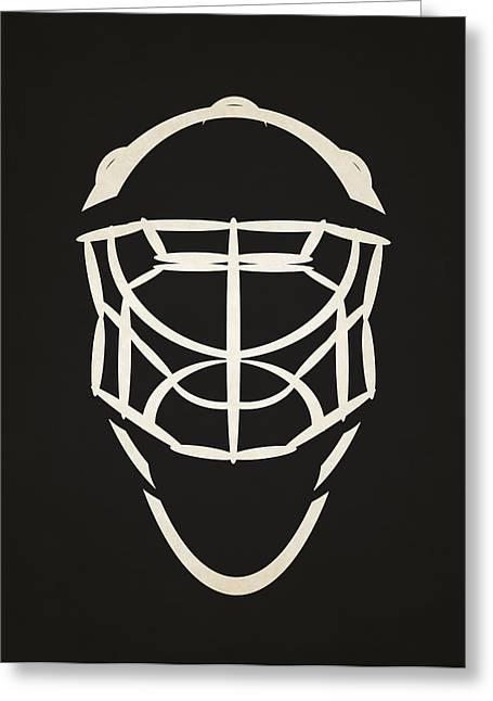 Senators Greeting Cards - Ottawa Senators Goalie Mask Greeting Card by Joe Hamilton