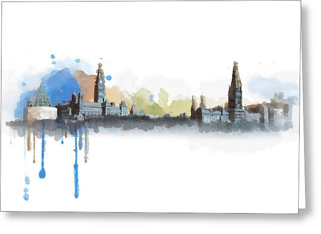 Lethbridge Greeting Cards - Ottawa Skyline 18b Greeting Card by Mahnoor Shah