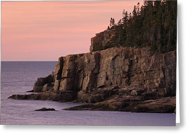 Otter Cliff At Dawn Greeting Card by Juergen Roth
