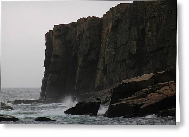 Maine Landscape Greeting Cards - Otter Cliff Greeting Card by Juergen Roth