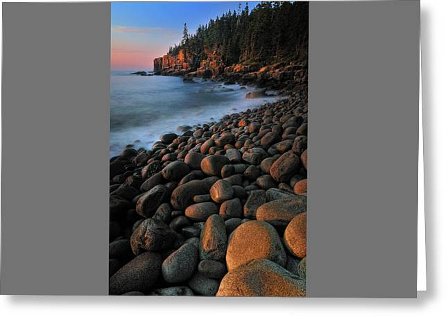 Otter Cliffs - Acadia National Park Greeting Card by Thomas Schoeller