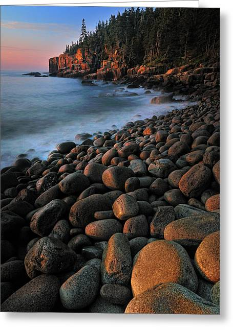 Ethereal Beach Scene Greeting Cards - Otter Cliffs - Acadia National Park Greeting Card by Thomas Schoeller
