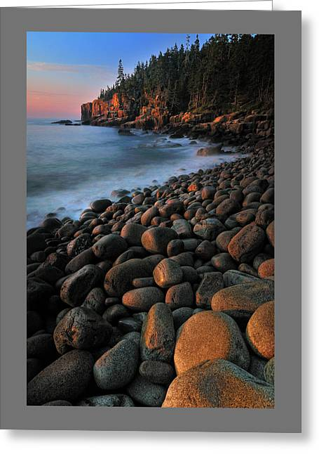 New England Coast Line Greeting Cards - Otter Cliffs - Acadia National Park Greeting Card by Thomas Schoeller