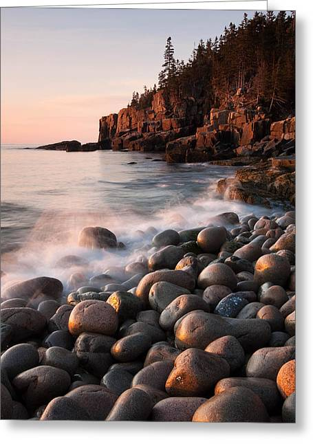 Maine Beach Greeting Cards - Otter Cliffs Greeting Card by Patrick Downey
