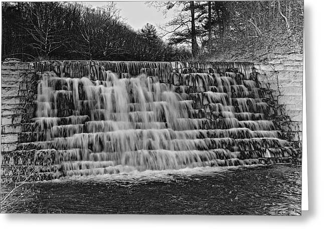Pull Greeting Cards - Otter Lake Waterfall Blue Ridge Parkway Greeting Card by Betsy C  Knapp