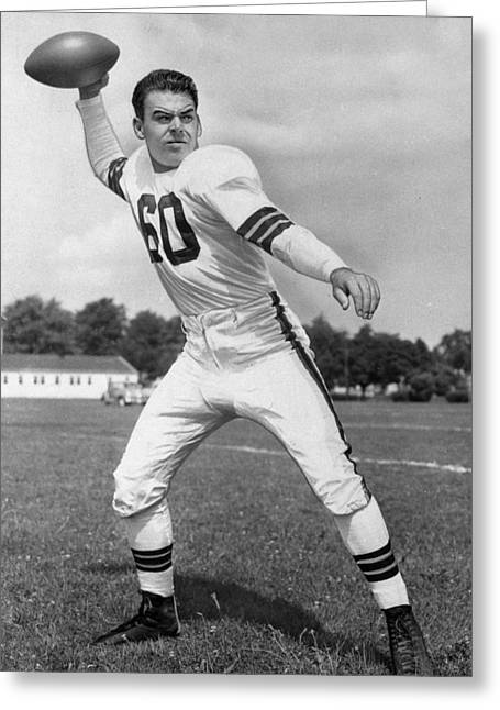 Hall Of Fame Greeting Cards - Otto Graham NFL Legend Poster Greeting Card by Gianfranco Weiss