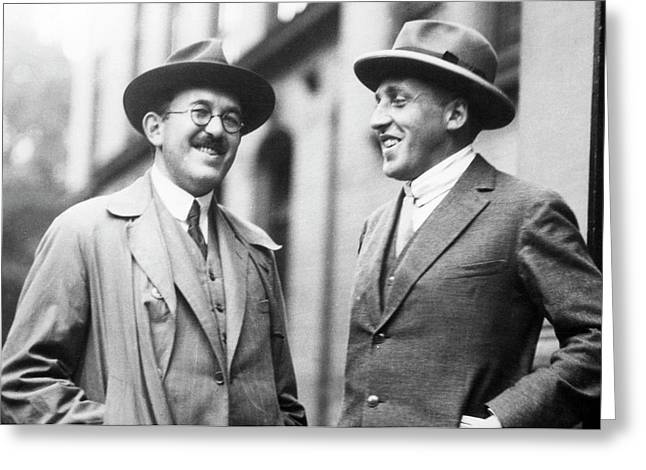 Otto Stern And Paul Scherrer Greeting Card by Aip Emilio Segre Visual Archives, Segre Collection