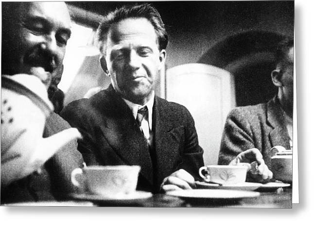 Otto Stern And Werner Heisenberg Greeting Card by Paul Ehrenfest, Jr., Courtesy Aip Emilio Segre Visual Archives, Weisskopf Collection