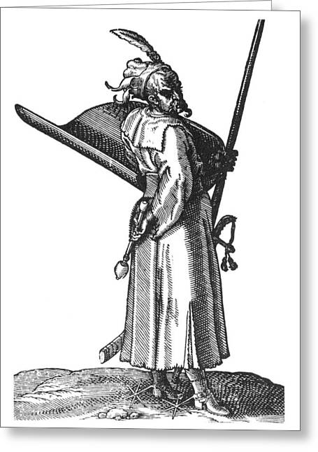 Ottoman Janissary, 1576 Greeting Card by Granger