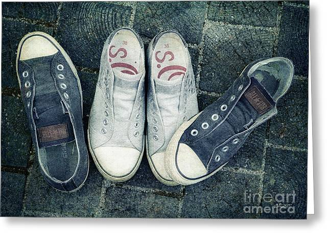 Sneakers Digital Art Greeting Cards - Ouch Greeting Card by Jutta Maria Pusl
