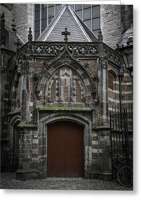 Weathervane Greeting Cards - Oude Kerk Door Amsterdam Greeting Card by Teresa Mucha
