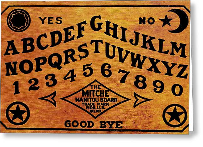 Seance Greeting Cards - Ouija Board 1 Greeting Card by Tony Rubino