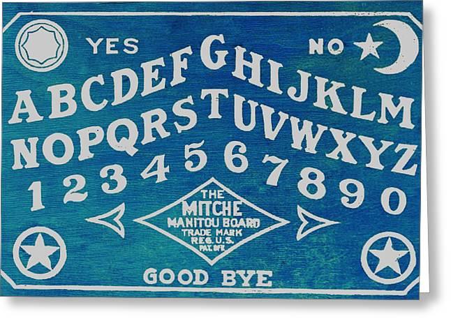 Talking Mixed Media Greeting Cards - Ouija Board 2 Greeting Card by Tony Rubino