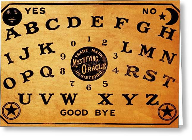 Seance Greeting Cards - Ouija Board 3 Greeting Card by Tony Rubino