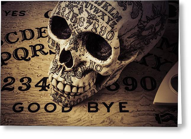Ouija Boards And Skull 2 Greeting Card by Garry Gay