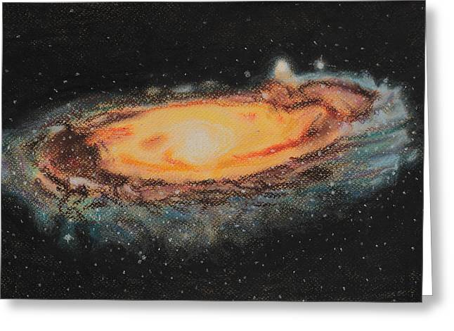 Astronomy Pastels Greeting Cards - Our brightest neighbour Greeting Card by Vanessa Sancho