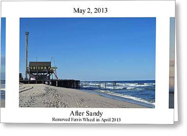 Seaside Heights Greeting Cards - Our Changing Shoreline Seaside NJ Greeting Card by Terry DeLuco