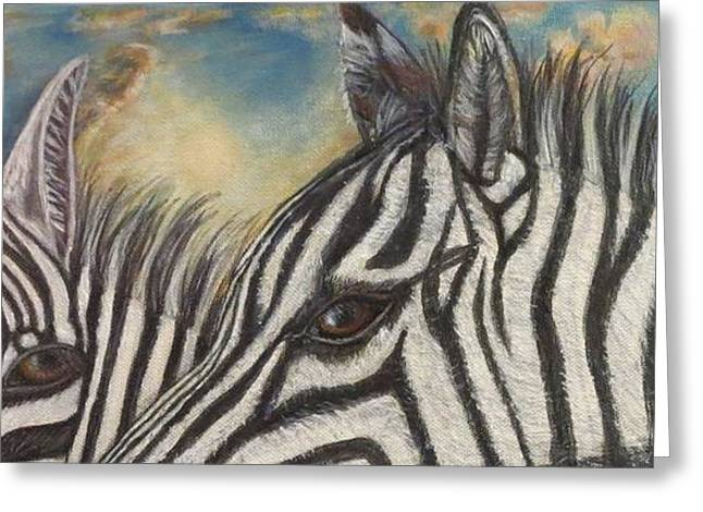 Our Eyes Are The Windows To Our Souls Greeting Card by Kimberlee Baxter