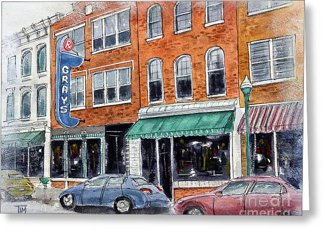Historic Franklin Tennessee Greeting Cards - Our Franklin Greeting Card by Tim Ross
