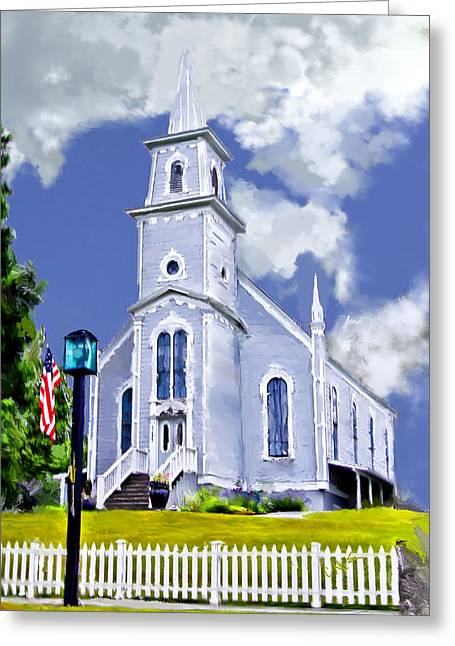 Church Painter Greeting Cards - Our Heritage Greeting Card by Dale Stillman