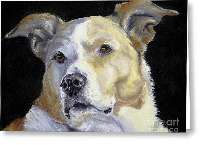 Dog Prints Drawings Greeting Cards - Our Hero Greeting Card by Susan A Becker