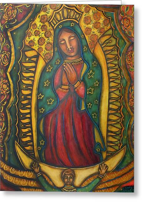 Our Lady Of Glistening Grace Greeting Card by Marie Howell Gallery