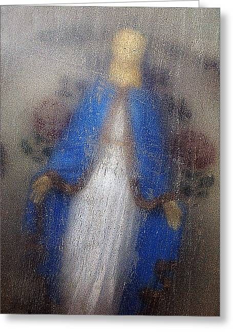 Our Souls Greeting Cards - Our Lady of Grace Mount Calvary Cemetery Las Vegas New Mexico 2010 Greeting Card by John Hanou