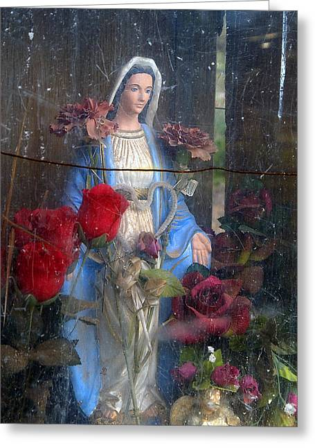 Our Souls Greeting Cards - Our Lady of Grace San Ysidro Cemetery Corrales New Mexico 2010 Greeting Card by John Hanou