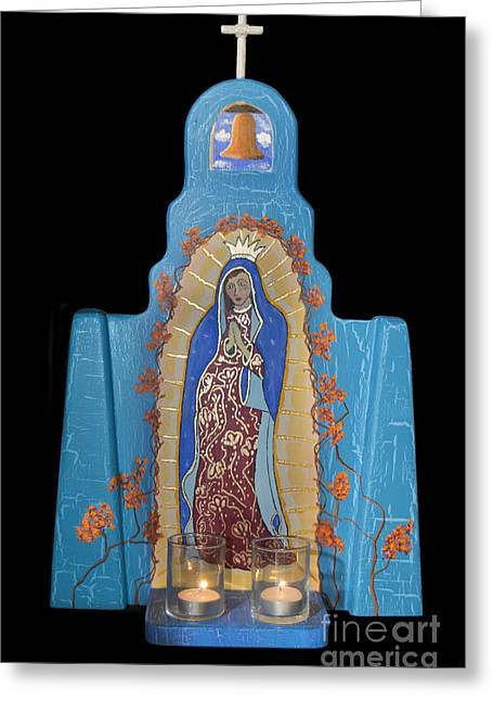 Retablos Greeting Cards - Our Lady of Guadalupe Greeting Card by Jerry McElroy